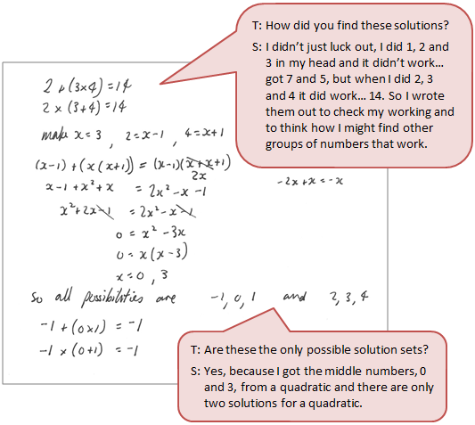 how to teach simultaneous equation for conceptual understanding